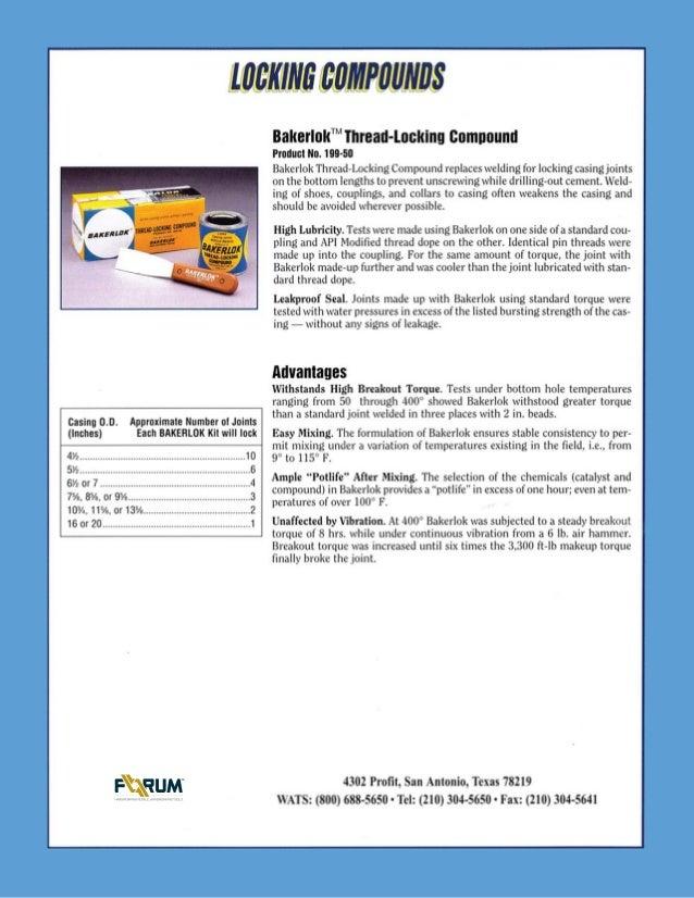 Bakerlok thread locking compound data sheet