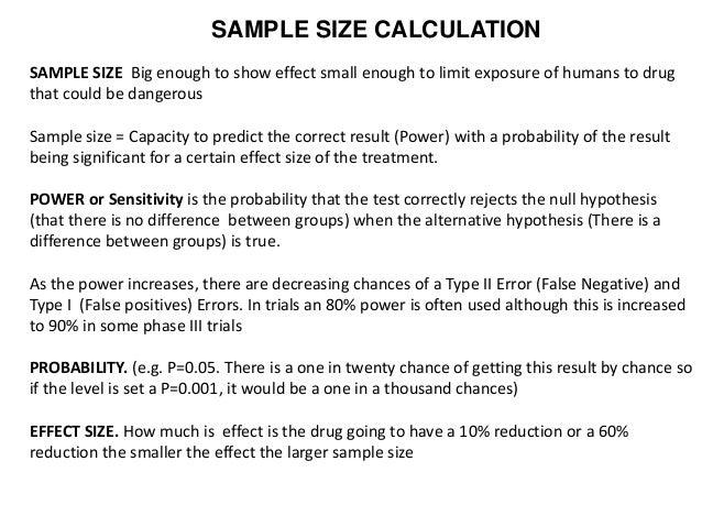 Sample Size Calculators - Sample Size Calculators