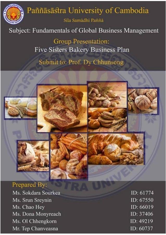 start up bakery business plan