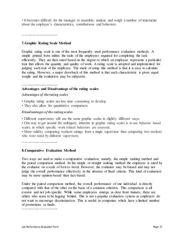 job performance evaluation - Bakery Manager Job Description