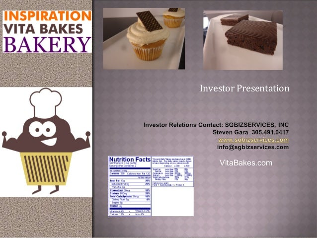 Investor PresentationVitaBakes.com