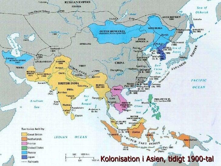 Kolonisation i Asien, tidigt 1900-tal