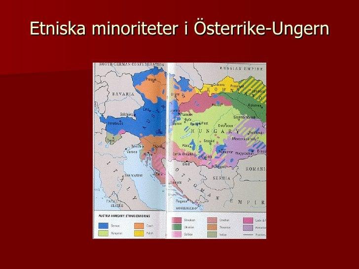 Etniska minoriteter i Österrike-Ungern