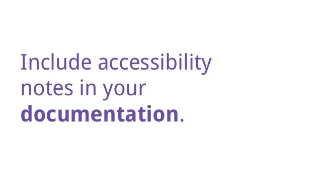 Baking Accessibility In