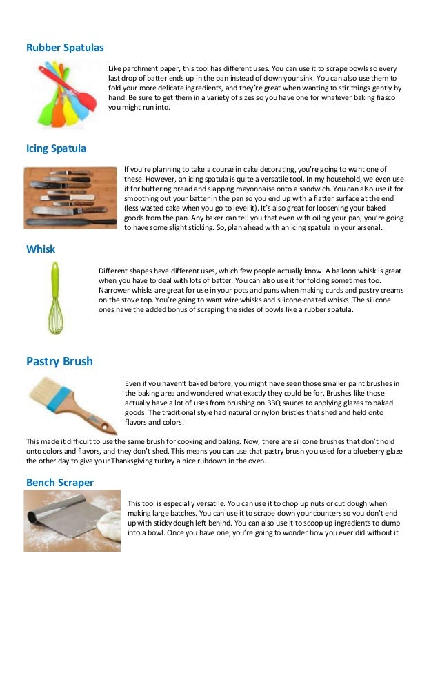 Baking Utensils And Their Uses