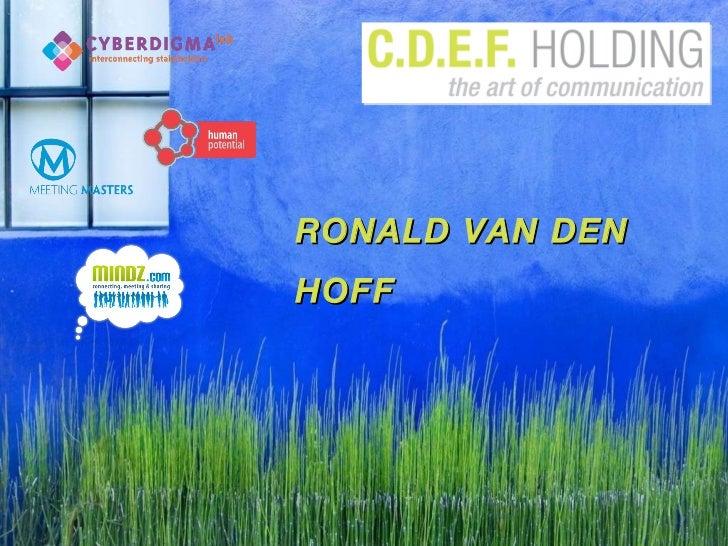 RONALD VAN DEN HOFF