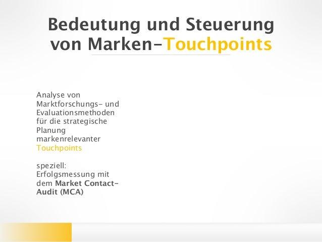 Bedeutung Und Steuerung Von Touchpoints Zusammenfassung Bachelorarbe