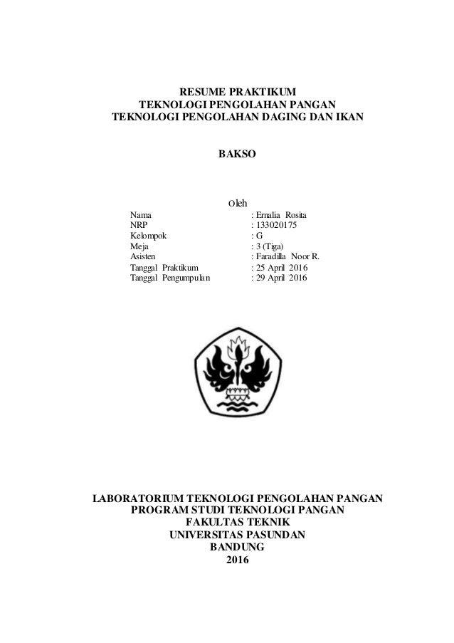 Laporan praktikum bakso resume praktikum teknologi pengolahan pangan teknologi pengolahan daging dan ikan bakso oleh nama ernalia rosita ccuart Gallery