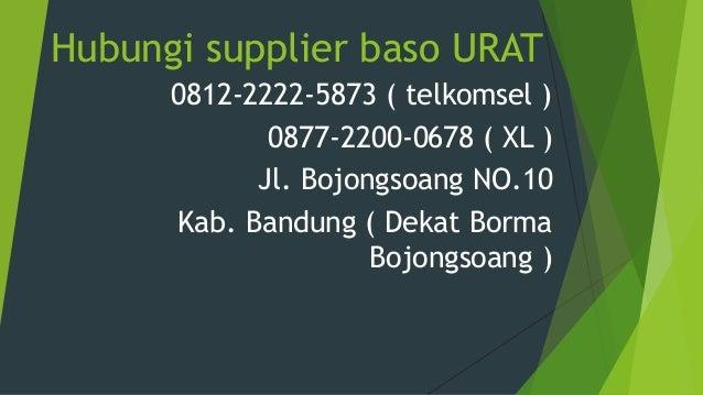 Hubungi supplier baso URAT 0812-2222-5873 ( telkomsel ) 0877-2200-0678 ( XL ) Jl. Bojongsoang NO.10 Kab. Bandung ( Dekat B...
