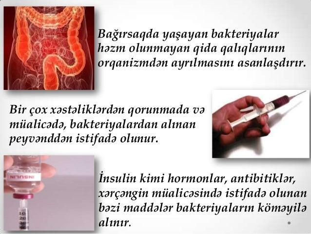 Bakteriyaların yaratdığı xəstəliklərin qarşısını almaq üçün antibiotiklərdən istifadə olunur.Antibiotiklər mikrobların ink...