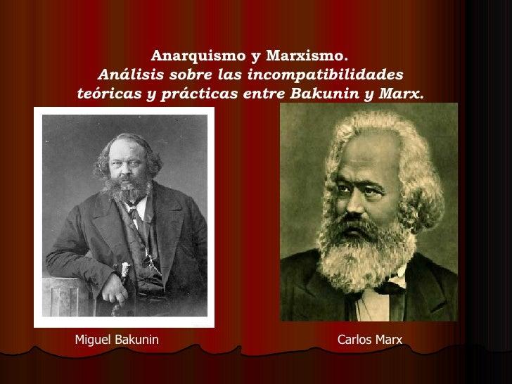 Anarquismo yMarxismo. Análisis sobre las incompatibilidades teóricas y prácticas entre Bakunin y Marx. Miguel Bakunin Car...
