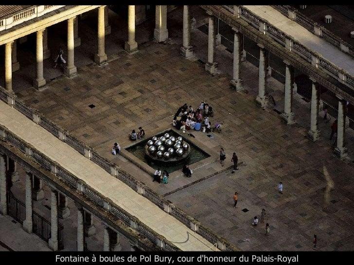 Fontaine à boules de Pol Bury, cour d'honneur du Palais-Royal