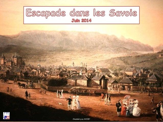 Chambéry au XVIIIe