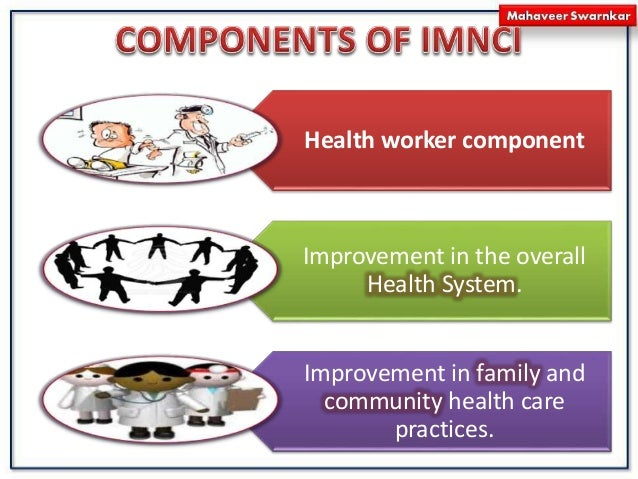 Health worker component Improvement in the overall Health System. Improvement in family and community health care practice...