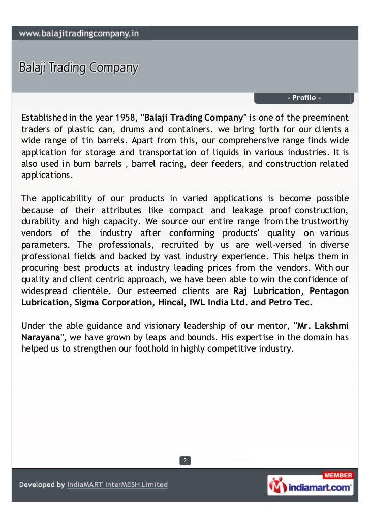 Balaji Trading Company, Chennai, plastic can Slide 2