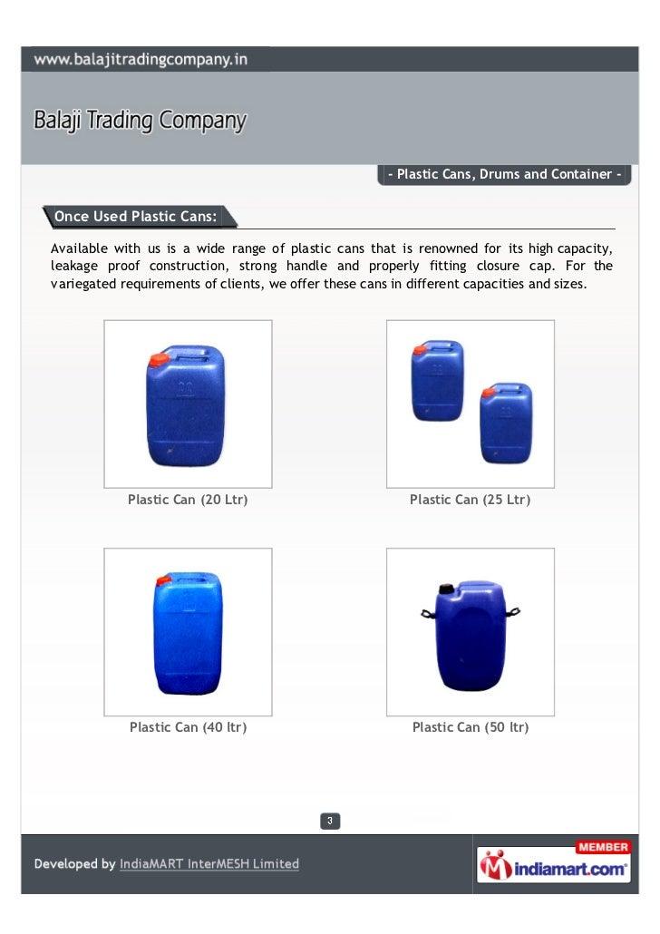 Balaji Trading Company, Chennai, plastic can Slide 3