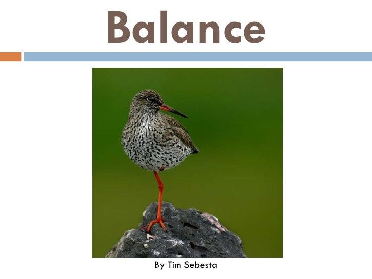 Balance      By Tim Sebesta