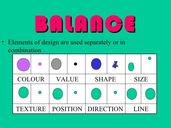 Elements Of Design Direction : Balance an element of art