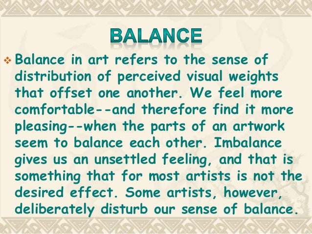 Value Balance Art Definition : Balance in art