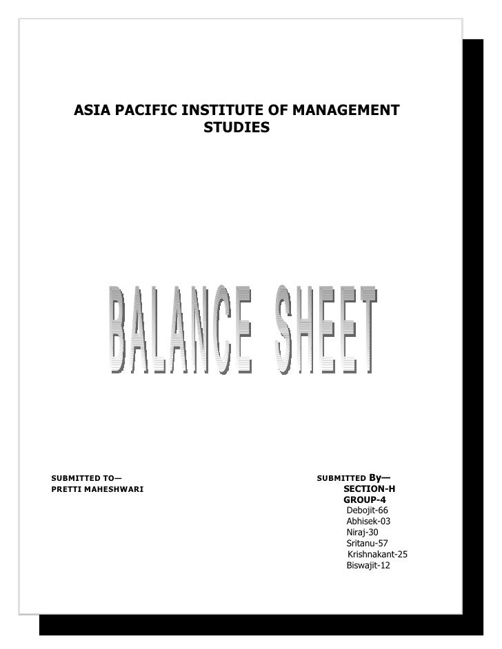 ASIA PACIFIC INSTITUTE OF MANAGEMENT                    STUDIES     SUBMITTED TO—                 SUBMITTED By— PRETTI MAH...