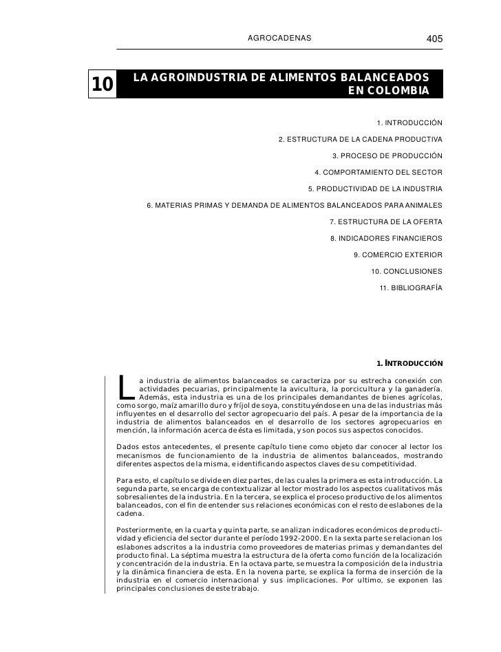 AGROCADENAS                                           405          LA AGROINDUSTRIA DE ALIMENTOS BALANCEADOS10            ...