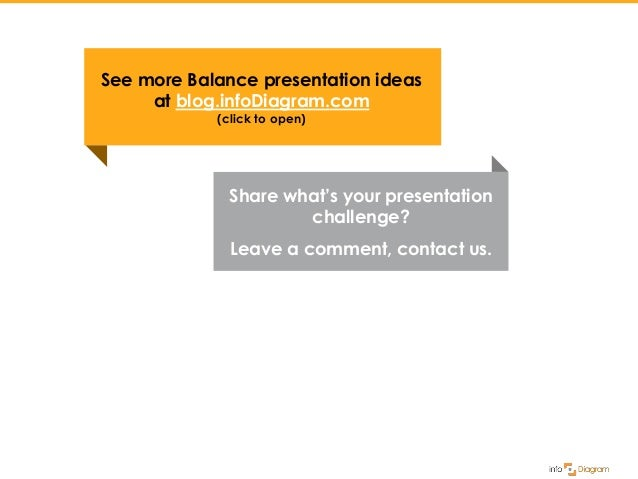 Share what's your presentation challenge? Leave a comment, contact us. See more Balance presentation ideas at blog.infoDia...