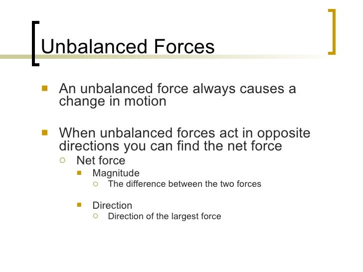 Unbalanced Net Force Examples Images Free Download Balanced And