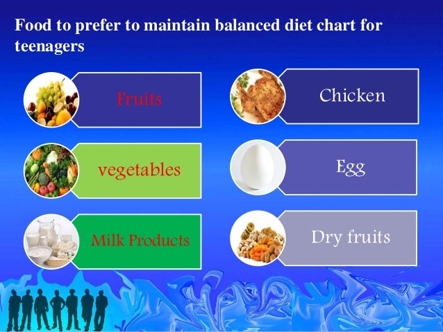 Balanced Diet Chart For Teenagers