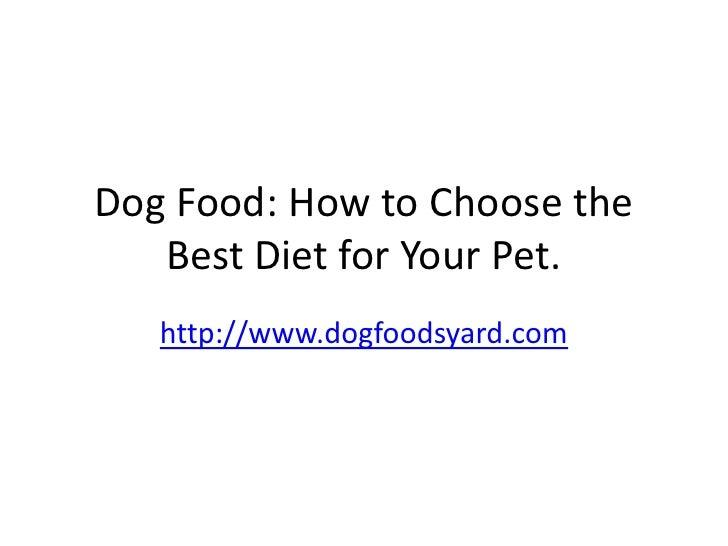 Balanced dog food