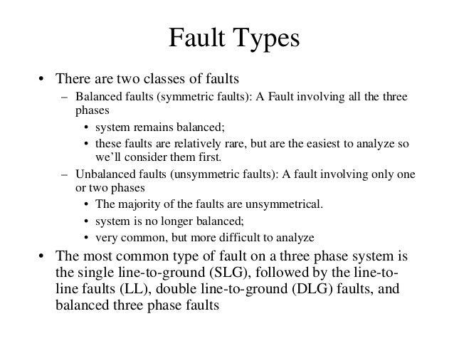 Balanced faults Slide 3