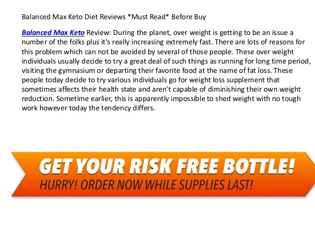 Balanced Max Keto Diet Reviews *Must Read* Before Buy Balanced Max Keto Review: During the planet, over weight is getting ...