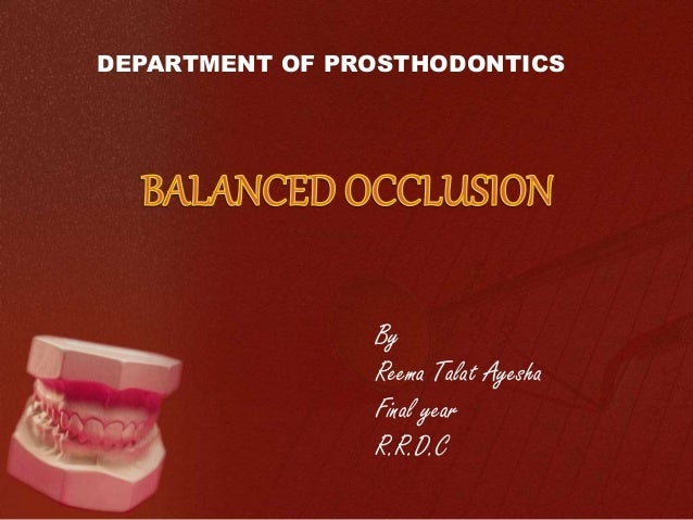 Complete denture occlusion ppt download.