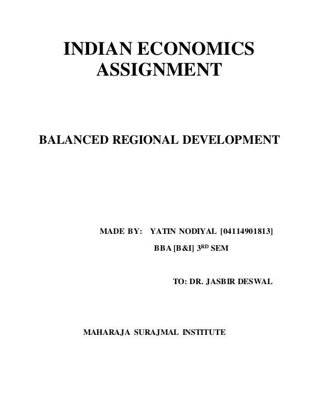 balanced regional development in india pdf