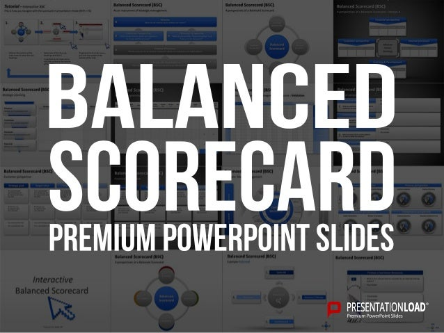 powerpoint balanced scorecard template, Modern powerpoint