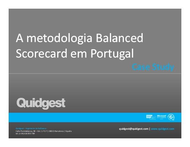 A metodologia BalancedScorecard em Portugal                                                                             Ca...