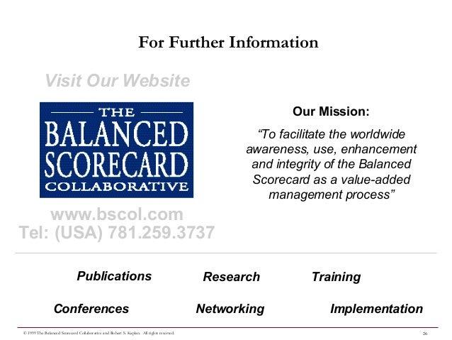 wells fargo ofs balanced scorecard The balanced scorecard planning for long-run organizational success.