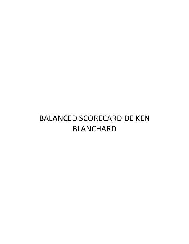 BALANCED SCORECARD DE KEN BLANCHARD