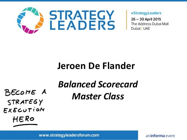 Jeroen De Flander Balanced Scorecard Master Class