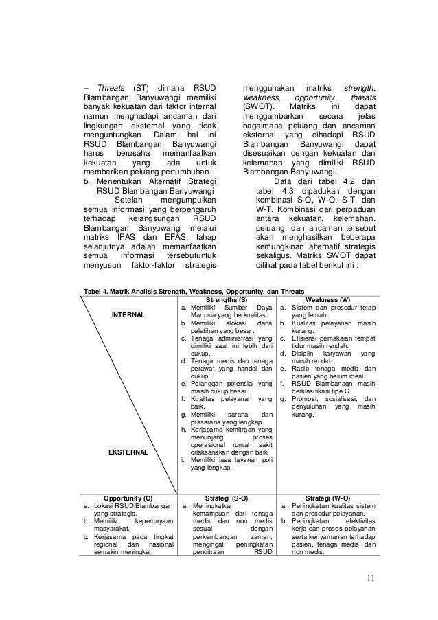 Balanced Scorecard Pada Rumah Sakit Umum Daerah Rsud