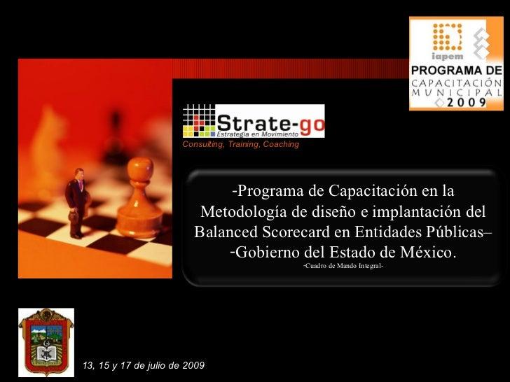 Consulting, Training, Coaching                               -Programa de Capacitación en la                           Met...