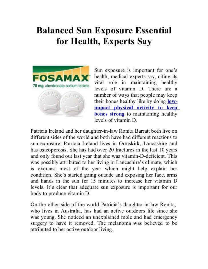 Balanced Sun Exposure Essential      for Health, Experts Say                             Sun exposure is important for one...