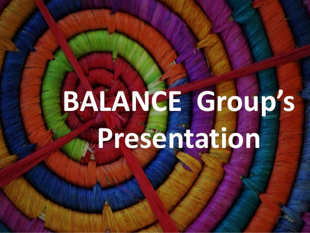 BALANCE Group's Presentation