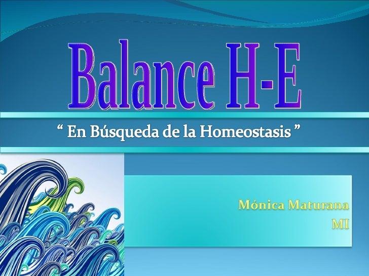 Balance H-E