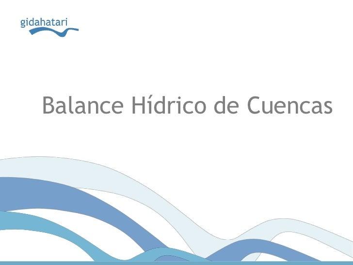 Balance Hídrico de Cuencas