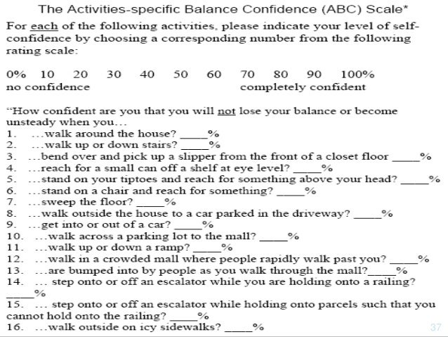 Balance in elderly