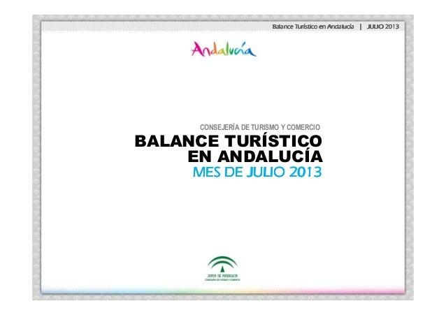 Balance TurBalance TurBalance TurBalance Turíííístico en Andalucstico en Andalucstico en Andalucstico en Andalucíííía | JU...