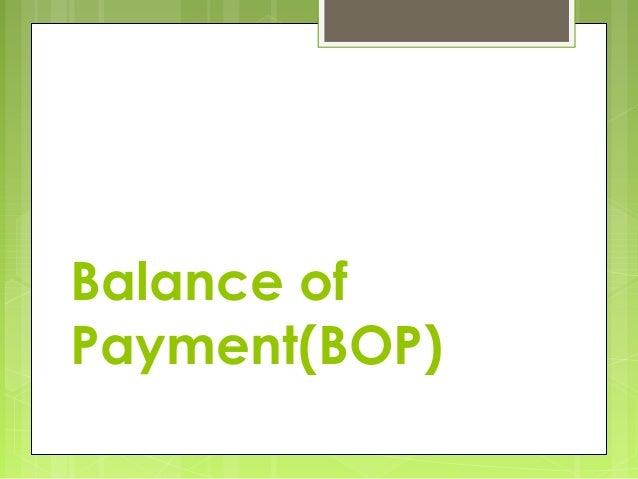 Balance of Payment(BOP)