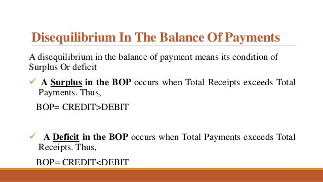 unfavourable balance of payment
