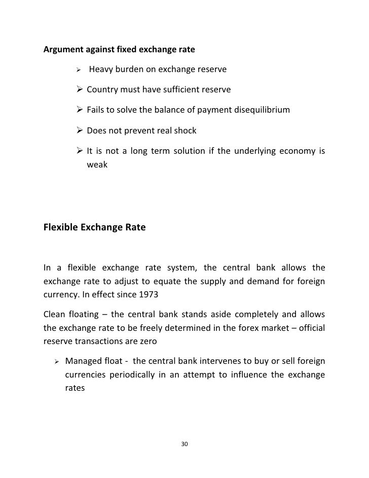 an argument in favor of free floating exchange rates in the economy Exchange rate regime: does it matter for inflation  economy the credibility gain is not a free lunch  fixed exchange rates than under floating.