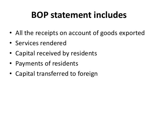 Balance of payments Slide 3